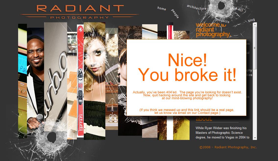Thesis custom 404 page